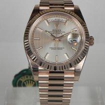 Rolex DAY DATE 40MM ROSE GOLD 228235 SUNDUST RIGHE