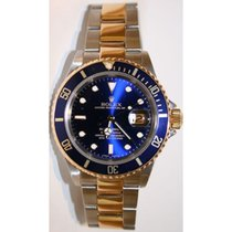 Rolex Submariner 16613 Stainless Steel and 18K Gold Blue Face...