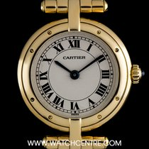Cartier 18k Yellow Gold Silver Roman Dial Vendome Ladies...