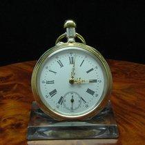 Minerva 800 Silber / Gold Mantel Open Face Taschenuhr
