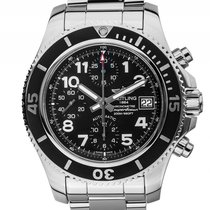 Breitling Superocean Stahl Automatik Chronograph Armband Stahl...