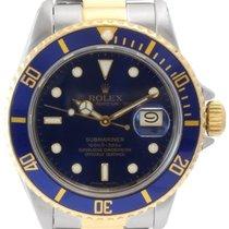 Rolex Submariner Date Men's Steel and Gold Watch, Blue...