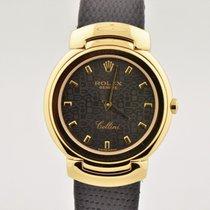 Rolex Cellini 18k Yellow Gold Black Jubilee Dial Quartz Watch...