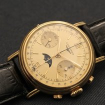 Longines chronograph yellow gold cal. 502 moon phase