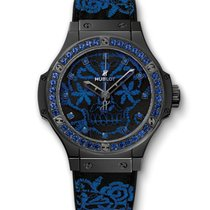 Hublot Big Bang 41mm · Broderie Sugar Skull Fluo Cobalt Blue...