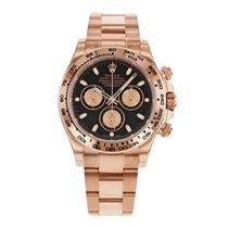 Rolex DAYTONA 18K Everose Gold Watch Black Dial 2017