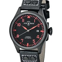Air Blue Charlie Auto Watch Black Pvd 44mm Case Sapphire 10atm...
