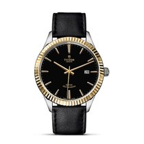 Tudor STYLE Date Bracelet Black Dial Golden Index Automatic 12713