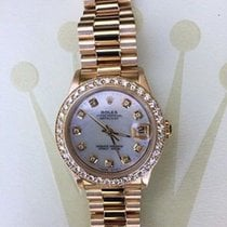 Rolex Midsize Ladies 31mm 18k Yellow Gold President 68278...