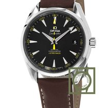 Omega Seamaster Aqua Terra 150m 15000 gauss black dial leather