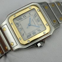Cartier Santos Galbee Quarz - Stahl-Gold - 187901