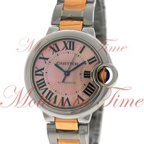 Cartier Ballon Bleu 33mm Automatic, Pink Mother of Pearl Dial...