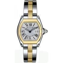 Cartier Roadster Ladies' Watch Two Tone Silver Dial