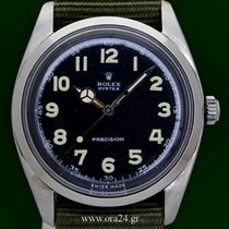 Rolex Vintage Oyster Precision Jumbo Very Rare Black Arabic Dial