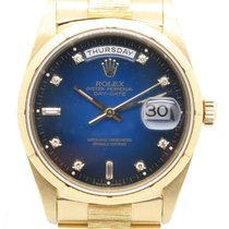 Rolex President Day Date 18248 18k Gold W/ Factory Blue...