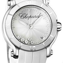 Chopard 278551-3001 Happy Sport in Steel - on White Rubber...