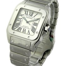 Cartier W200737G Santos 100 Large Size on Bracelet - Steel on...