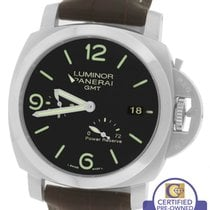 Panerai Luminor 1950 GMT 3 Day PAM 321 Black Automatic 44mm Watch