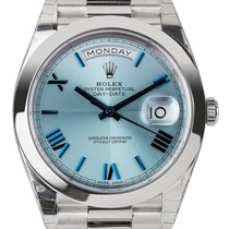 Rolex Day-Date 40 Platinum Ice Blue/Roman President 228206
