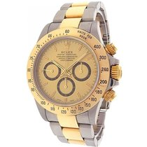 Rolex Oyster Daytona 16523 Stainless Steel 18k Yellow Gold...