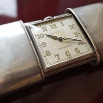 Movado 37. Movado Switzerland - sterling silver travel clock -...
