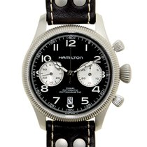 Hamilton Khahi Field Officer Stainless Steel Black Automatic...