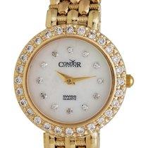 Condor 14kt Gold & Diamond Womens Luxury Swiss Watch Quartz...