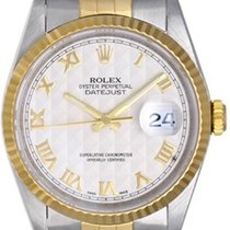 Rolex Datejust Men's 2-Tone Watch 16233 Ivory Colored...