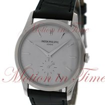Patek Philippe Calatrava, Silver Dial - White Gold on Strap