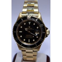 Rolex Submariner 16618 18K Yellow Gold Black Dial and Insert...