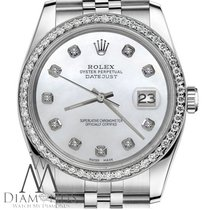 Rolex Datejust Womens Rolex 36mm White Mop Mother Of Pearl...