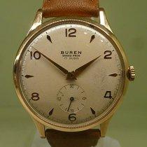 BUREN vintage meca pink gold 18 ct cal 381