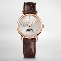 Zenith ELITE LADY MOONPHASE 33mm Rose Gold-Silver Dial 182330692