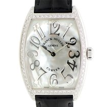 Franck Muller Cintree Curvex Stainless Steel With Diamonds...
