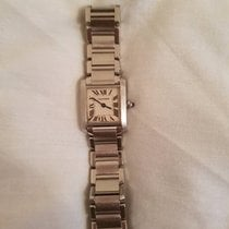 Cartier Tank Francaise W51008Q3 Steel 2000 Silver Dial 20mm