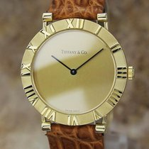 Tiffany & Co Atlas Swiss Made 31mm Luxury 18k Solid Gold...