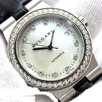Bulgari Diagono 18K White gold, Diamond bezel