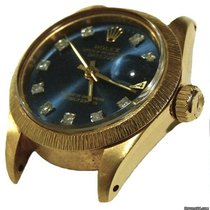 Rolex Datejust 18k Gold President Ladies Blue Diamond Dial Watch