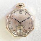 Elgin Pocket watch ca 1920 octagonal case, nice condition