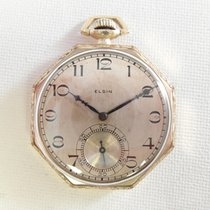 Elgin Pocket watch ca 1920 octagonal case, nice condition