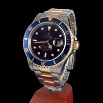 Rolex submariner steel and gold blue dial