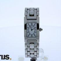 Audemars Piguet Promesse steel quartz watch with 12 diamonds