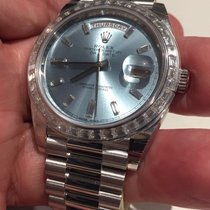 Rolex 228396tbr Platinum Day Date Diamond Bezel