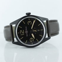 Bell & Ross Br123 Heritage Black Dial On Calfskin Strap