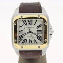 Cartier Santos 100 XL Steel/Gold (B&P2012) MINT 38mm