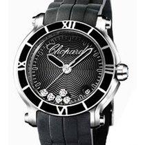 Chopard 278551-3002 Happy Sport Medium in Steel - On Black...