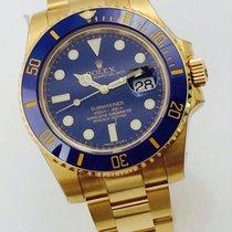Rolex SUBMARINER Voll Gold Blau Blue Bleu