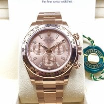 Rolex 18K Everose Gold Daytona Pink Baguette Diamond Dial NEW