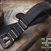 MiLTAT 22mm Grezzo ZULU Band, Black, PVD