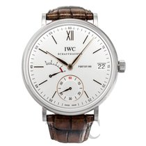IWC Portofino Hand-Wound Eight Days White Steel/Leather - IW5101